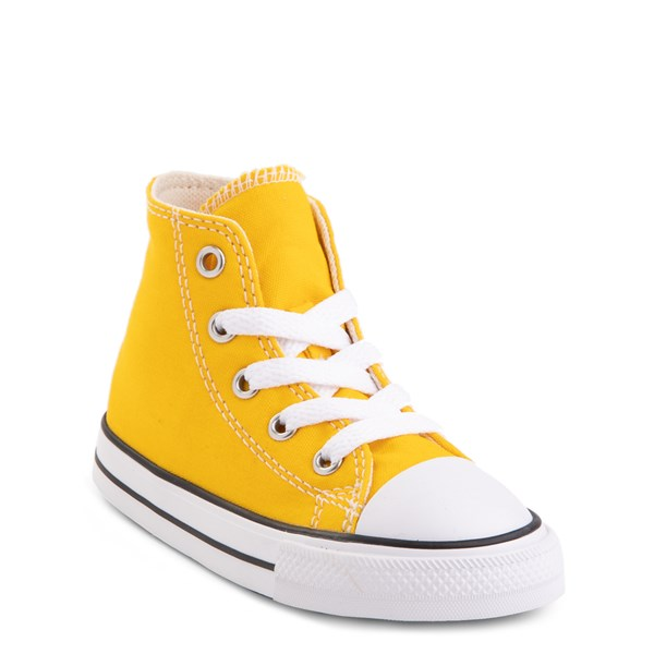 alternate view Converse Chuck Taylor All Star Hi Sneaker - Baby / Toddler - Lemon ChromeALT1B
