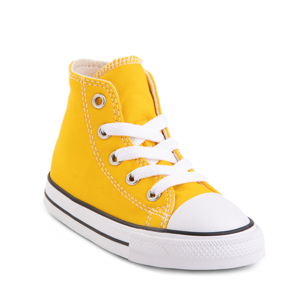 alternate view Converse Chuck Taylor All Star Hi Sneaker - Baby / Toddler - Lemon ChromeALT5