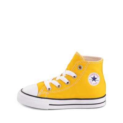 Alternate view of Converse Chuck Taylor All Star Hi Sneaker - Baby / Toddler - Lemon Chrome