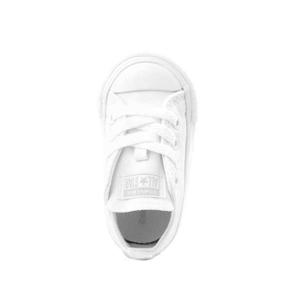 alternate view Converse Chuck Taylor All Star Lo Sneaker - Baby / Toddler - White MonochromeALT2