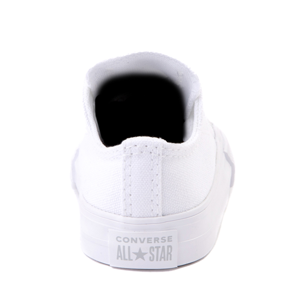 alternate view Converse Chuck Taylor All Star Lo Sneaker - Baby / Toddler - White MonochromeALT4