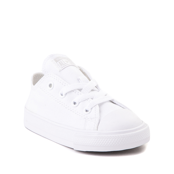 alternate view Converse Chuck Taylor All Star Lo Sneaker - Baby / Toddler - White MonochromeALT5