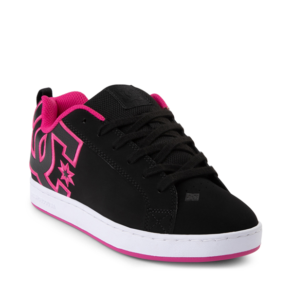 alternate view Womens DC Court Graffik Skate Shoe - Black / PinkALT5