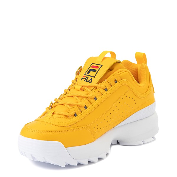alternate view Womens Fila Disruptor 2 Athletic Shoe - Yellow / Navy / RedALT2