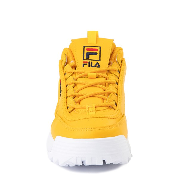 alternate view Womens Fila Disruptor 2 Athletic Shoe - Yellow / Navy / RedALT4