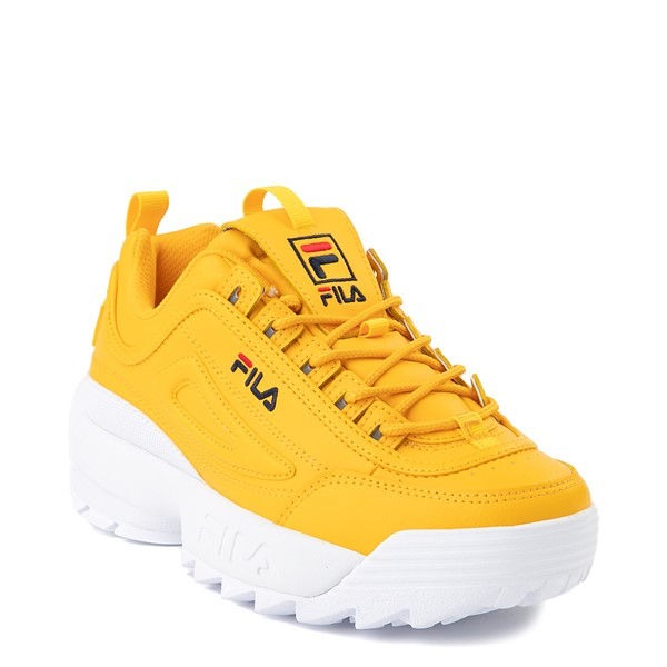 alternate view Womens Fila Disruptor 2 Athletic Shoe - Yellow / Navy / RedALT5