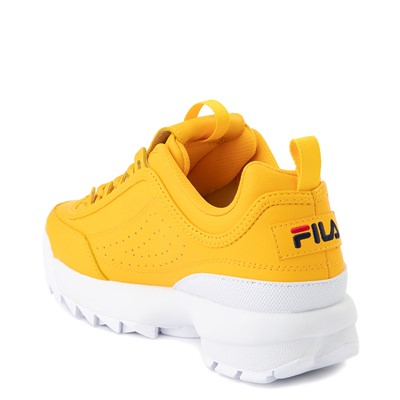 Alternate view of Womens Fila Disruptor 2 Athletic Shoe - Yellow / Navy / Red