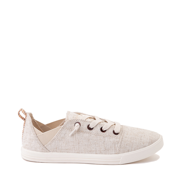 Womens Roxy Libbie Slip On Casual Shoe - Natural