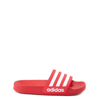 Main view of adidas Adilette Shower Slide Sandal - Little Kid / Big Kid - Scarlet