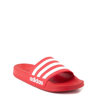 Alternate view of adidas Adilette Shower Slide Sandal - Little Kid / Big Kid - Scarlet