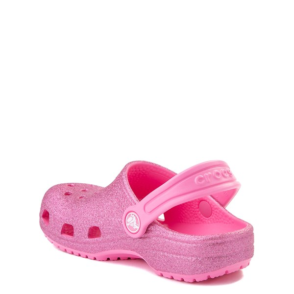 alternate view Crocs Classic Glitter Clog - Little Kid - Pink LemonadeALT2