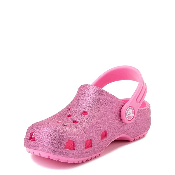 alternate view Crocs Classic Glitter Clog - Little Kid - Pink LemonadeALT3