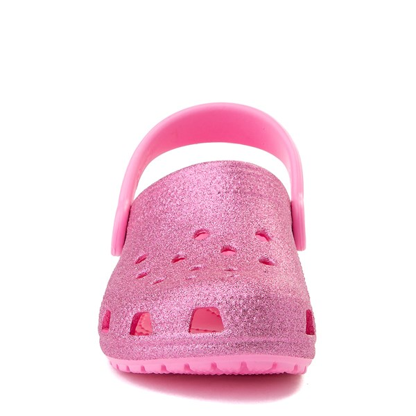 alternate view Crocs Classic Glitter Clog - Little Kid - Pink LemonadeALT4