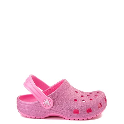 Main view of Crocs Classic Glitter Clog - Little Kid - Pink Lemonade