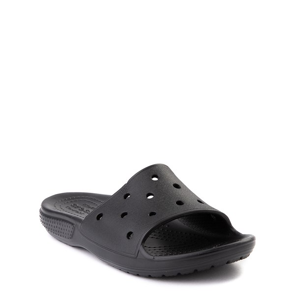 alternate view Crocs Classic Slide Sandal - Little Kid / Big Kid - BlackALT1