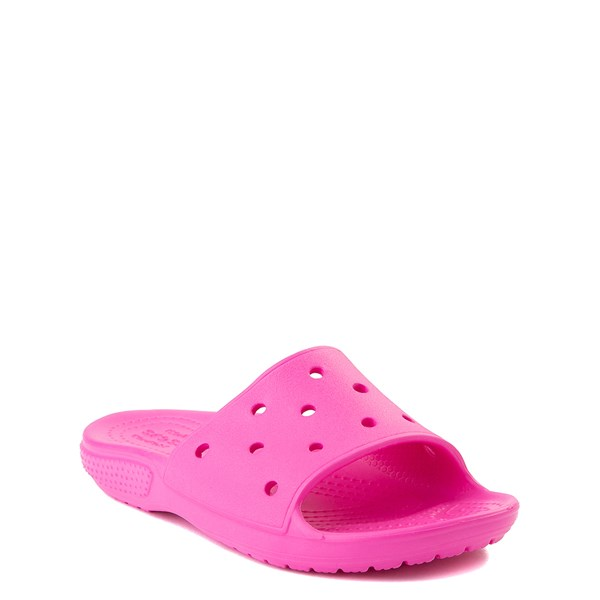 alternate view Crocs Classic Slide Sandal - Little Kid / Big Kid - Electric PinkALT1