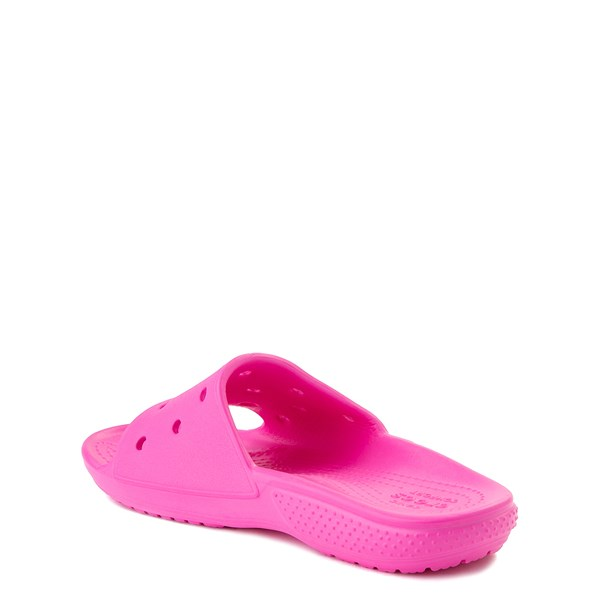 alternate view Crocs Classic Slide Sandal - Little Kid / Big Kid - Electric PinkALT2