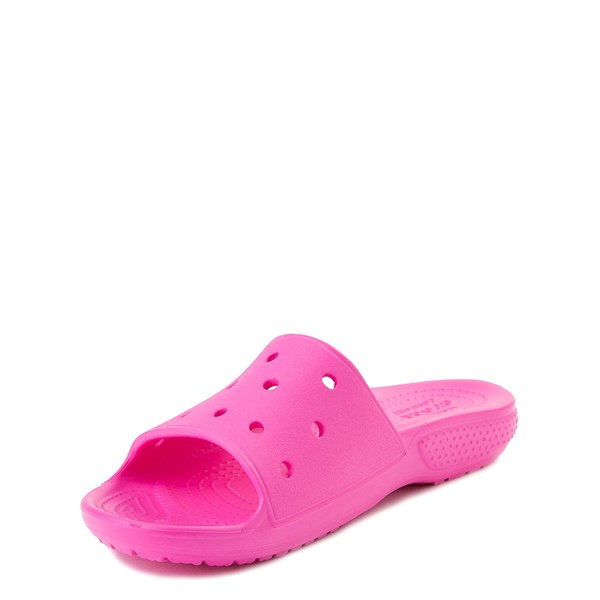 alternate view Crocs Classic Slide Sandal - Little Kid / Big Kid - Electric PinkALT3