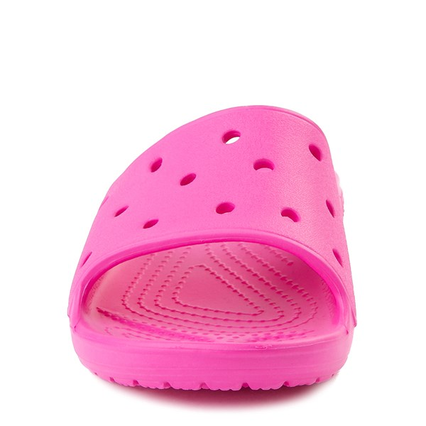 alternate view Crocs Classic Slide Sandal - Little Kid / Big Kid - Electric PinkALT4