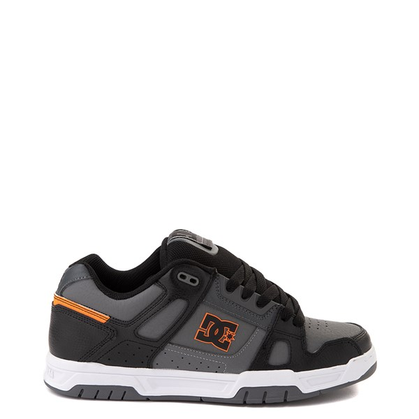 Mens DC Stag Skate Shoe - Gray / Black