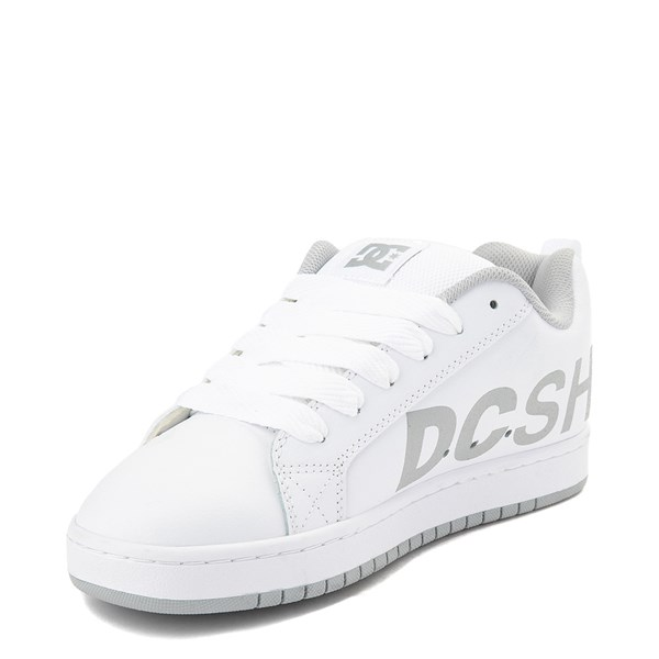 alternate view Mens DC Court Graffik SE Skate Shoe - White / Gray / RedALT3
