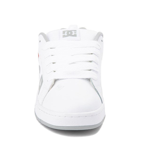 alternate view Mens DC Court Graffik SE Skate Shoe - White / Gray / RedALT4