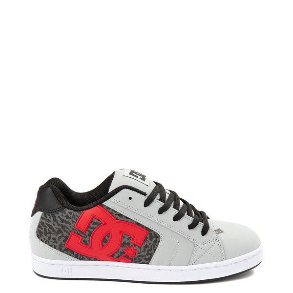 Mens DC Net SE Skate Shoe - Gray / Red