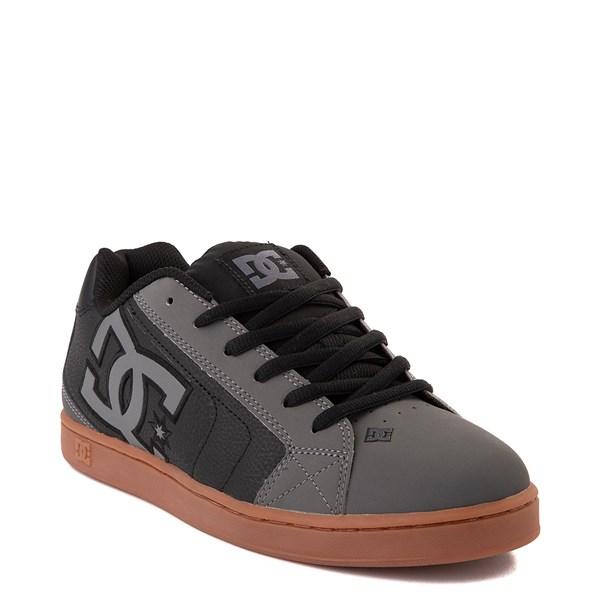 alternate view Mens DC Net Skate Shoe - Gray / Black / GumALT1