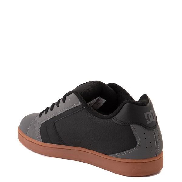 alternate view Mens DC Net Skate Shoe - Gray / Black / GumALT2