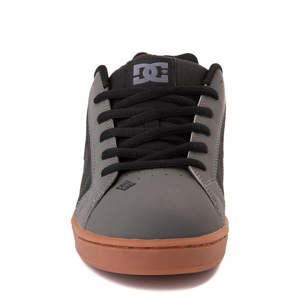 alternate view Mens DC Net Skate Shoe - Gray / Black / GumALT4