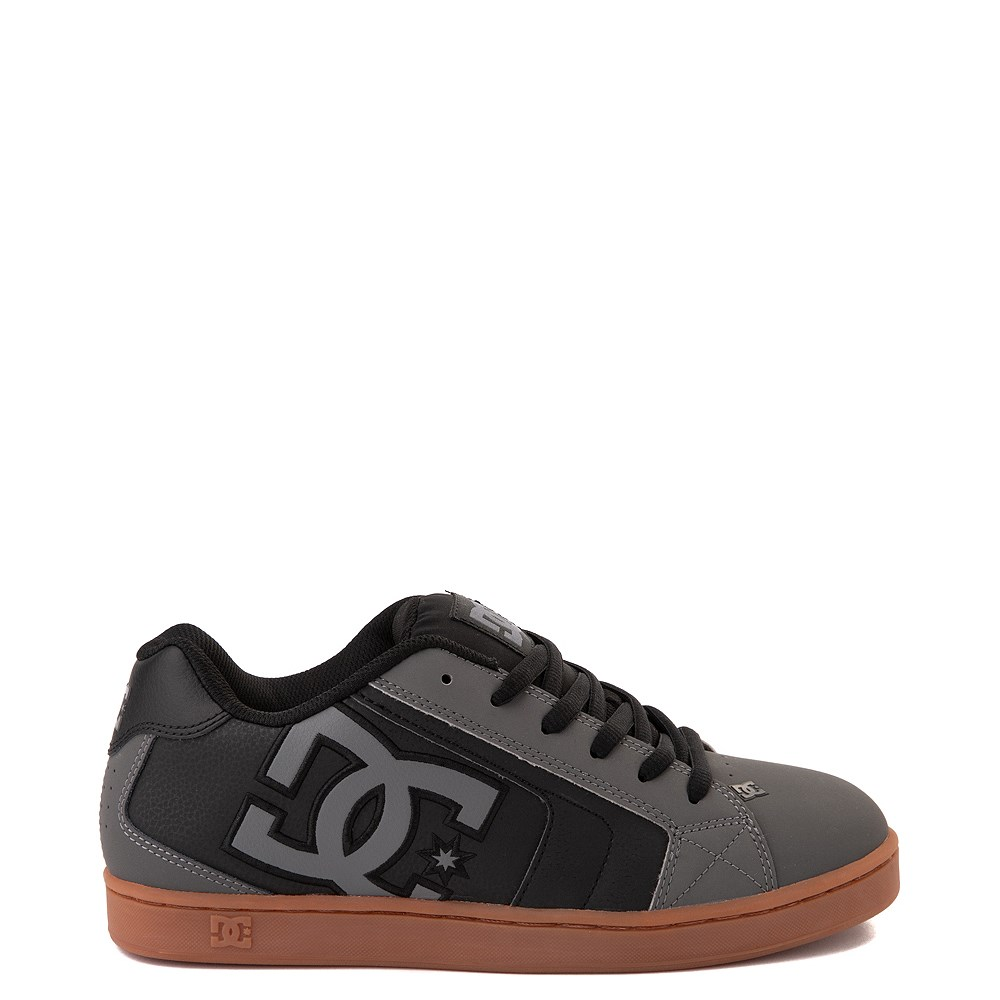 Mens DC Net Skate Shoe - Gray / Black / Gum