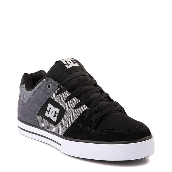 alternate view Mens DC Pure SE Skate Shoe - Black / GrayALT1