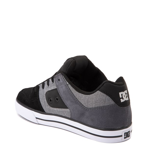 alternate view Mens DC Pure SE Skate Shoe - Black / GrayALT2