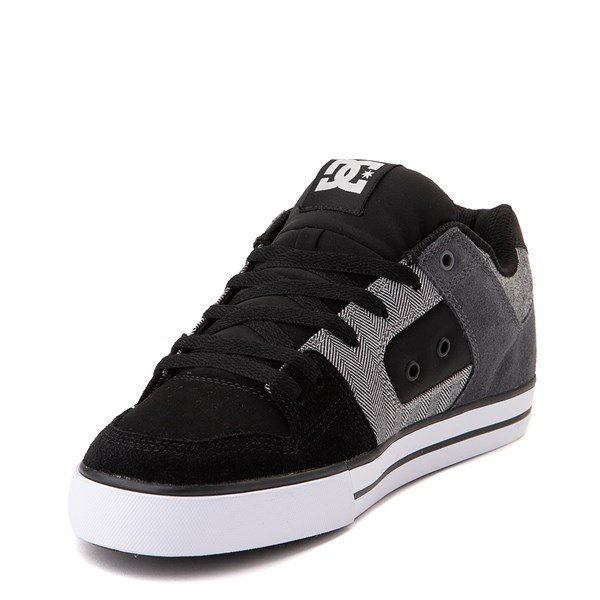 alternate view Mens DC Pure SE Skate Shoe - Black / GrayALT3