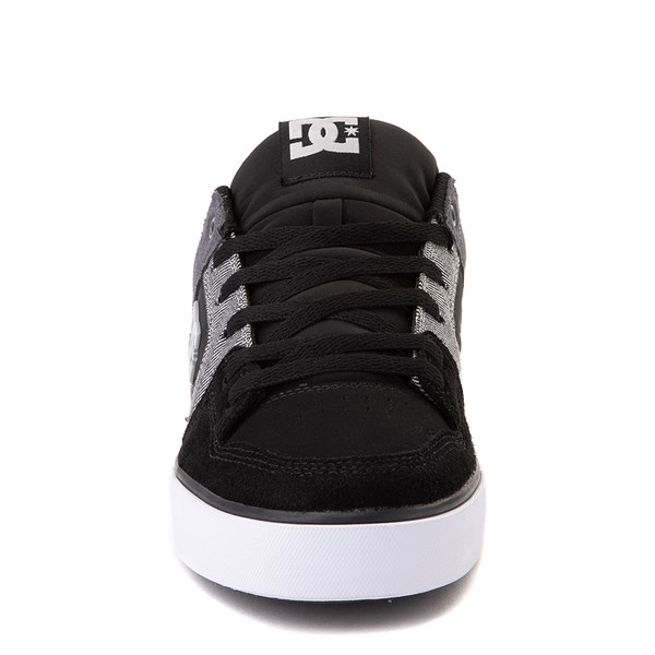 alternate view Mens DC Pure SE Skate Shoe - Black / GrayALT4