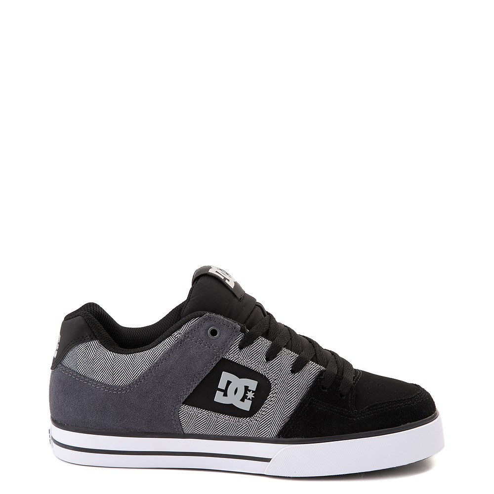 Mens DC Pure SE Skate Shoe - Black / Gray