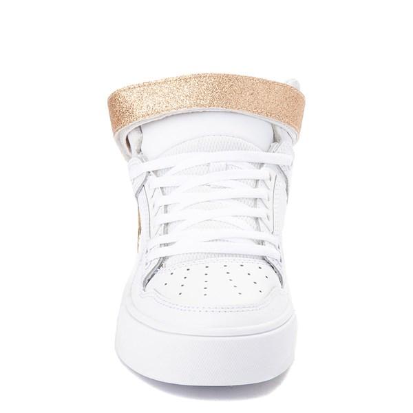 alternate view Womens DC Pure Hi V Skate Shoe - White / GoldALT4