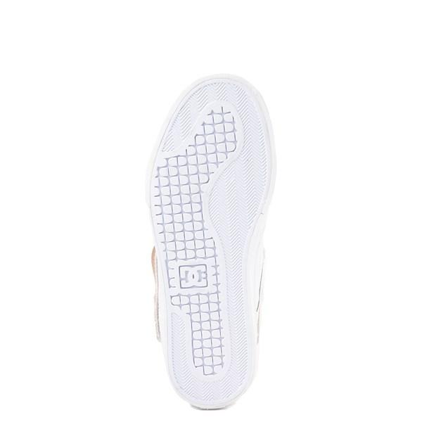 alternate view Womens DC Pure Hi V Skate Shoe - White / GoldALT5