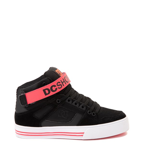 Womens DC Pure Hi V Skate Shoe - Black / Hot Pink