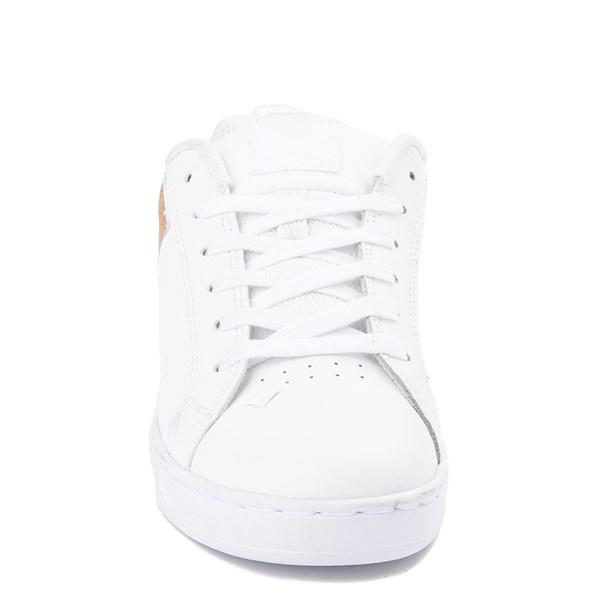alternate view Womens DC Court Graffik Skate Shoe - White / GoldALT4