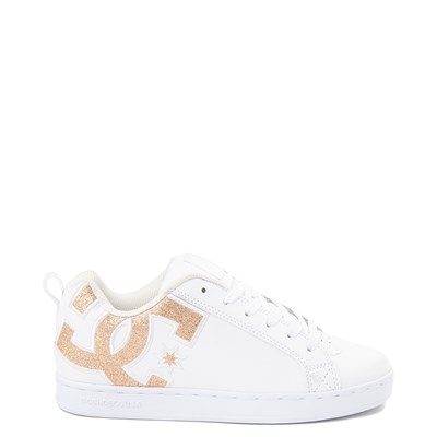 Main view of Womens DC Court Graffik Skate Shoe - White / Gold