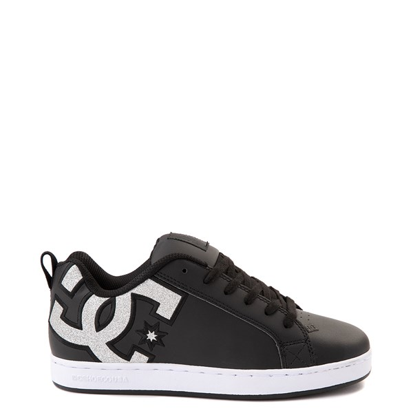 Womens DC Court Graffik Skate Shoe - Black / Silver