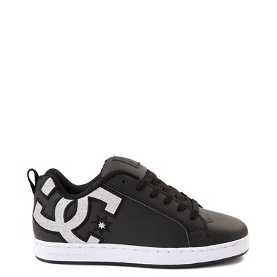 Main view of Womens DC Court Graffik Skate Shoe - Black / Silver