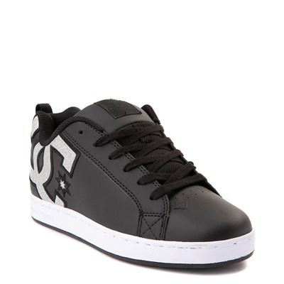 Alternate view of Womens DC Court Graffik Skate Shoe - Black / Silver