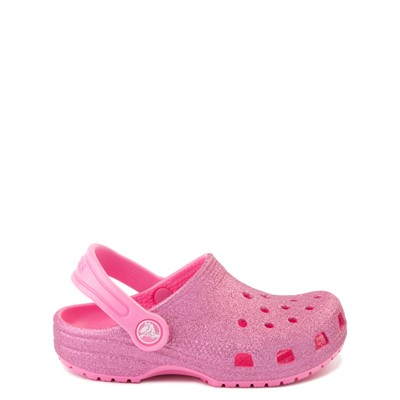 Main view of Crocs Classic Glitter Clog - Baby / Toddler / Little Kid - Pink Lemonade