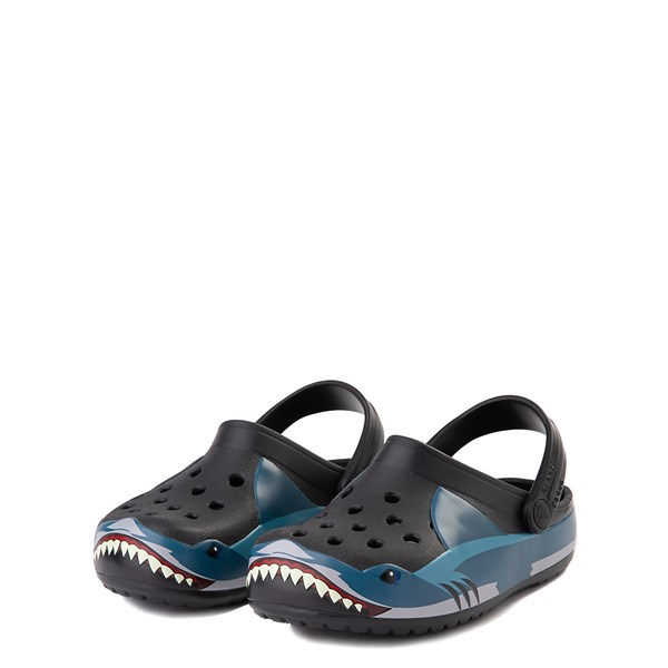 alternate view Crocs Funlab Shark Clog - Baby / Toddler / Little Kid - BlackALT3
