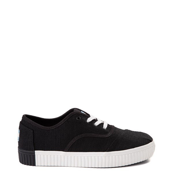Womens TOMS Cordones Indio Platform Casual Shoe - Black