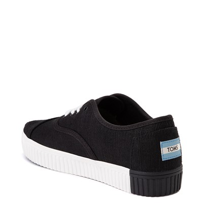 Alternate view of Womens TOMS Cordones Indio Platform Casual Shoe - Black