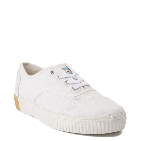 alternate view Womens TOMS Cordones Indio Platform Casual Shoe - WhiteALT1