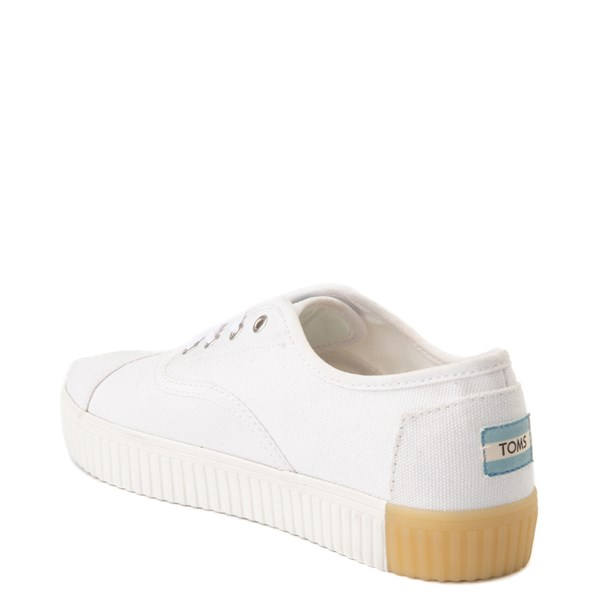 alternate view Womens TOMS Cordones Indio Platform Casual Shoe - WhiteALT2